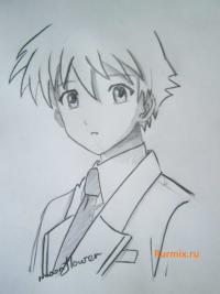Как научиться рисовать  Цукунэ Аоно из аниме Rosario + Vampire