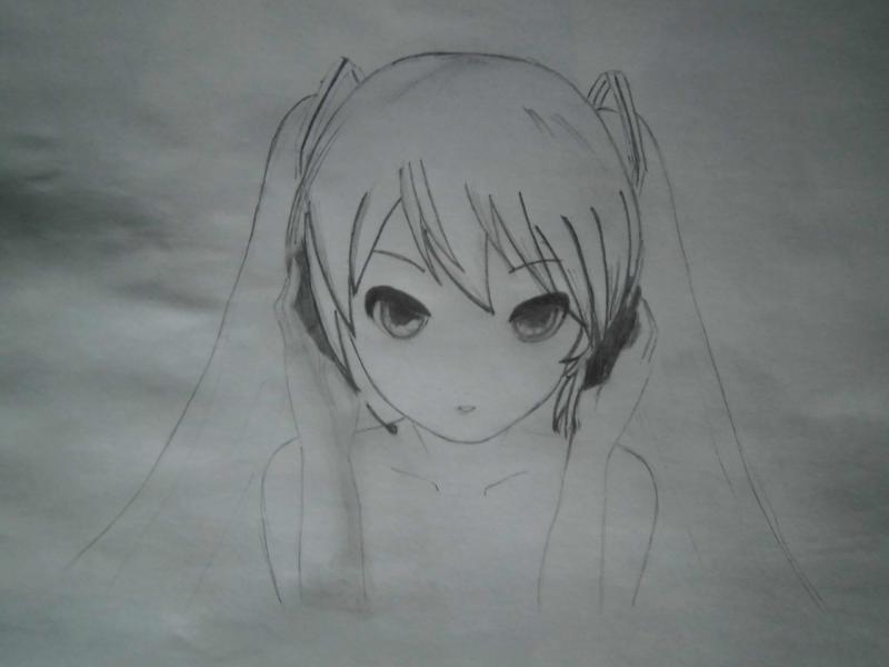 Рисуем фэнтези девушку в наушниках - шаг 5
