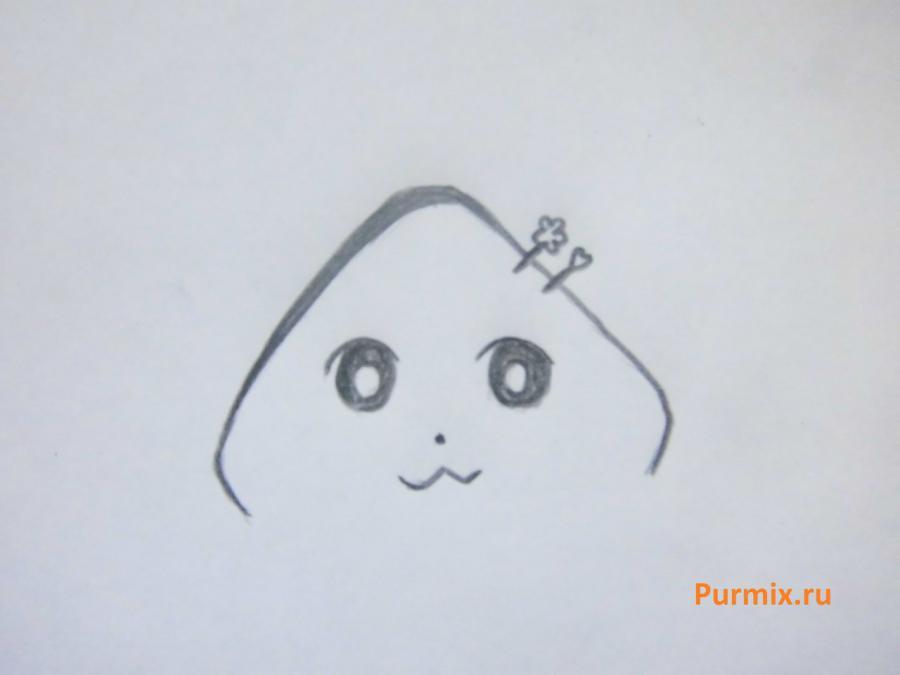 Как просто нарисовать миленькую неко - шаг 2