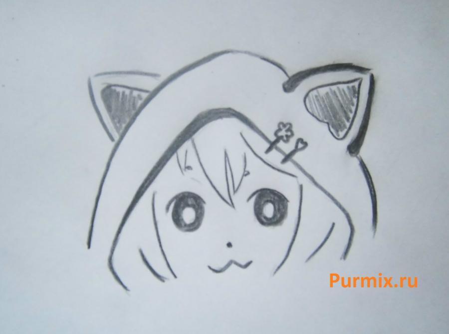 Как просто нарисовать миленькую неко - шаг 3