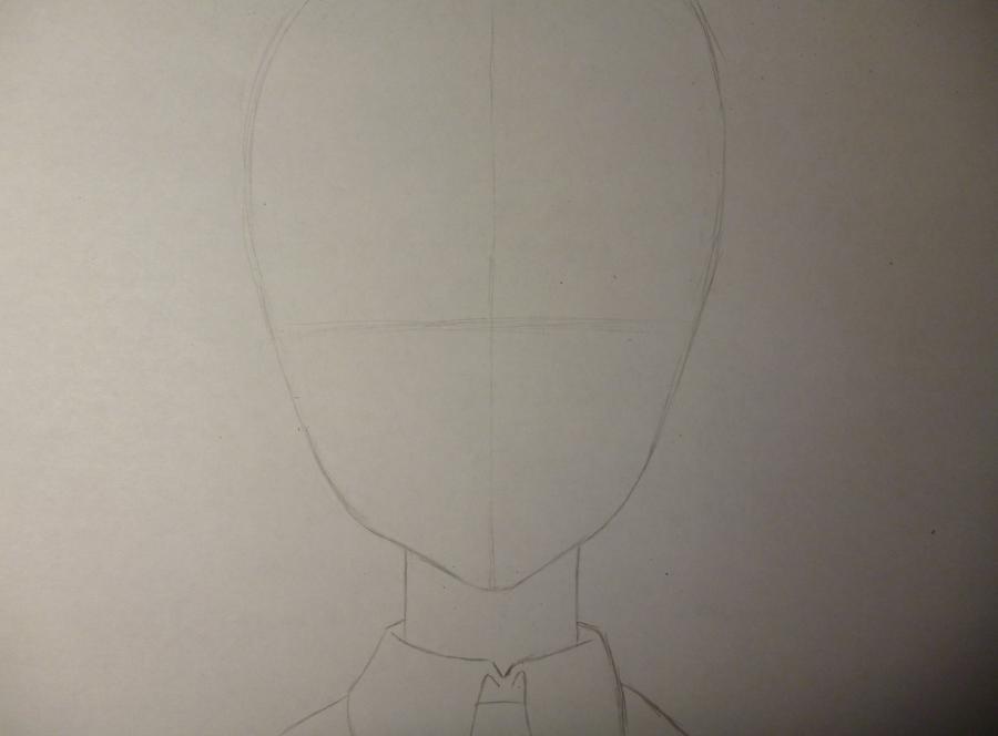Как простым нарисовать Мэй Мисаки карандашами - шаг 1