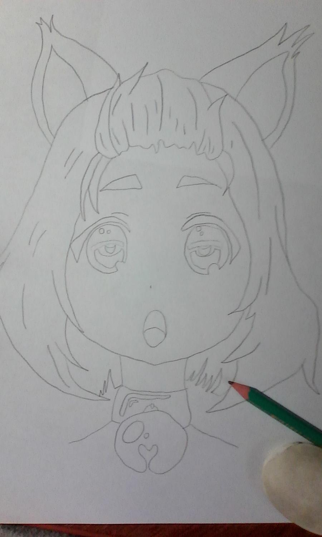 Как раскрасить аниме глаза фломастерами - шаг 1