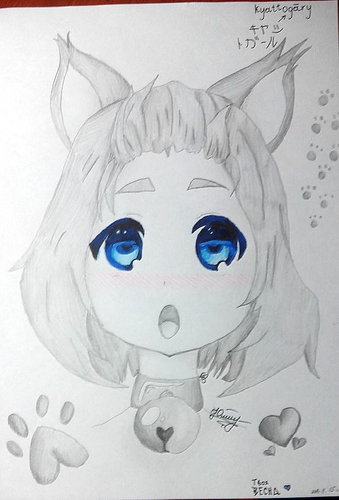 Как раскрасить аниме глаза фломастерами - шаг 7
