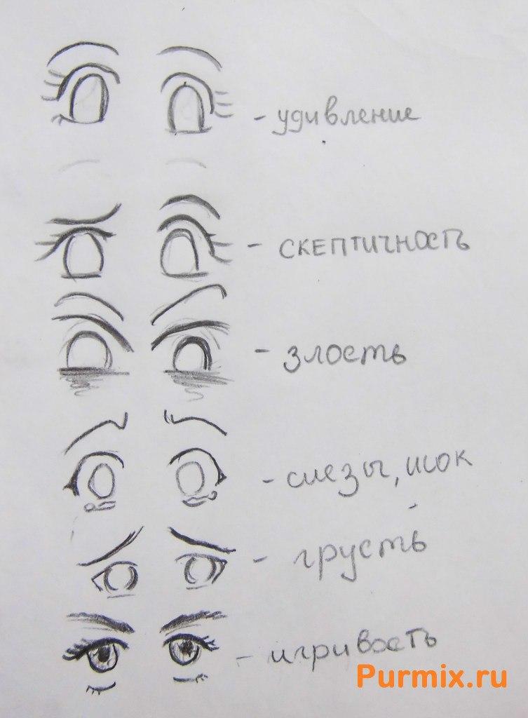 Рисуем аниме лицо девушки - шаг 5