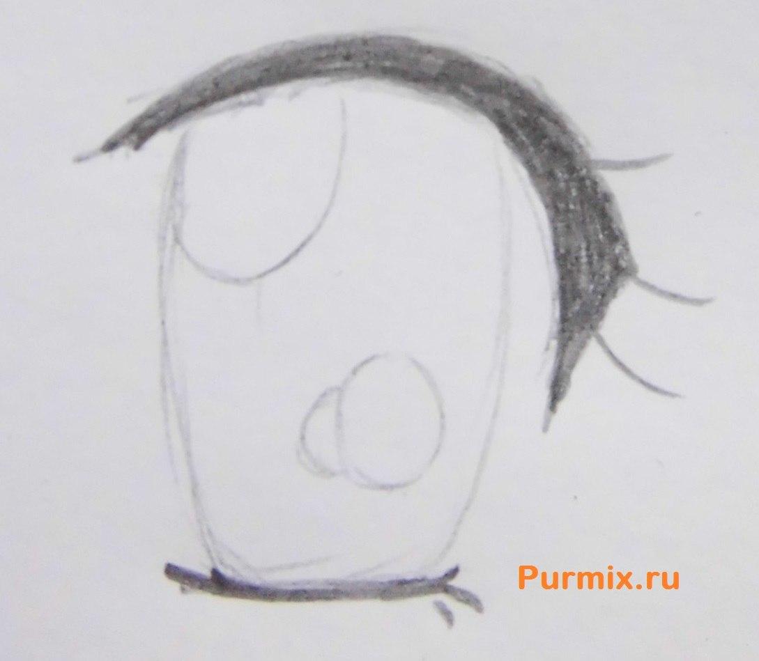 Рисуем аниме лицо девушки - шаг 8