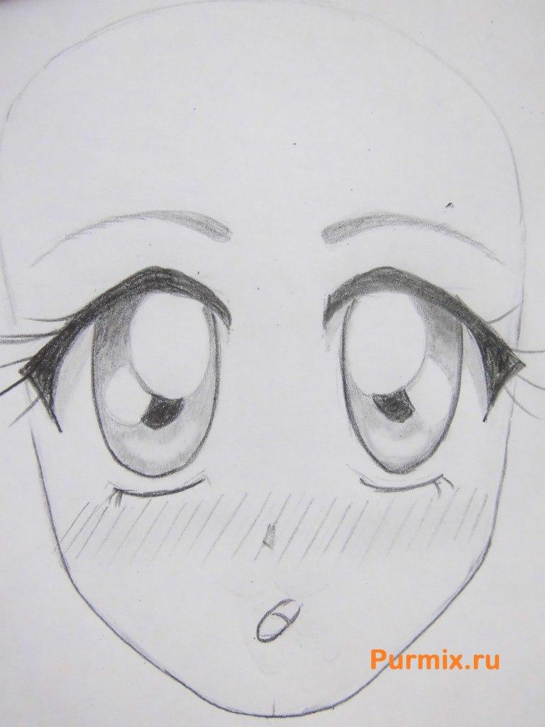 Рисуем аниме лицо девушки - шаг 16