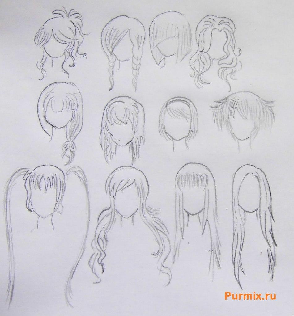 Рисуем аниме лицо девушки - шаг 17