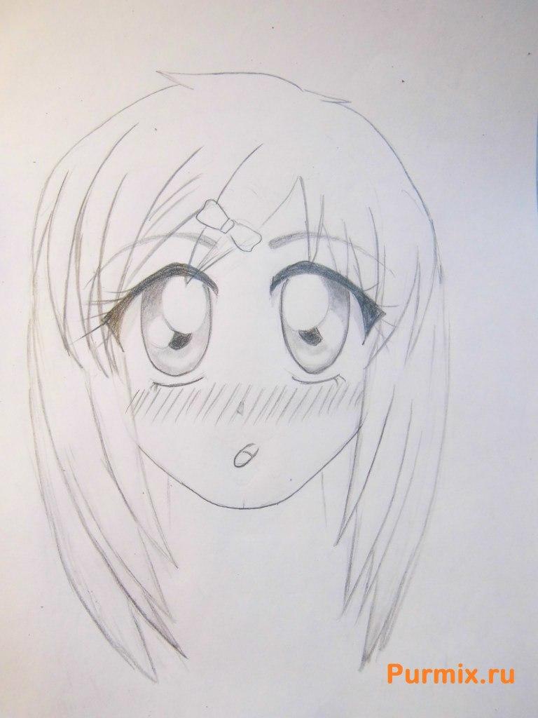 Рисуем аниме лицо девушки - шаг 19