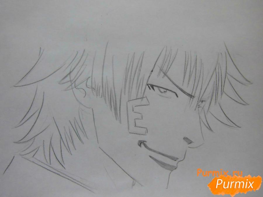 РисуемТацуми Ога из аниме Beelzebub - шаг 3