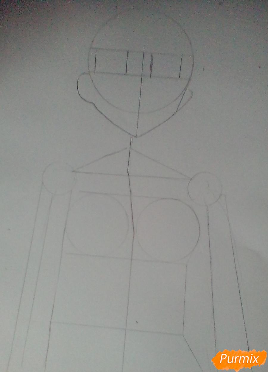 Кричащая аниме девушка в куртке - шаг 1