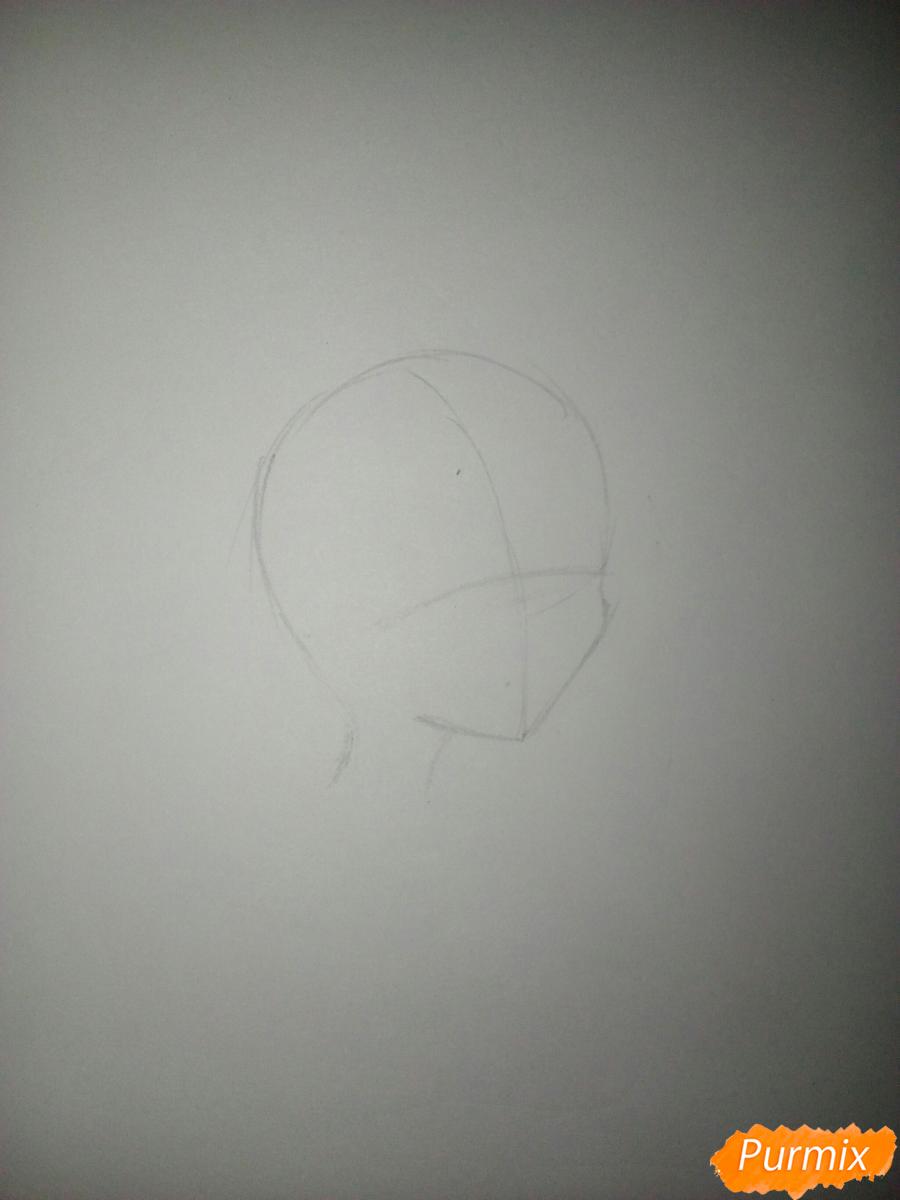 Мика Хатсуне в профиль - шаг 1