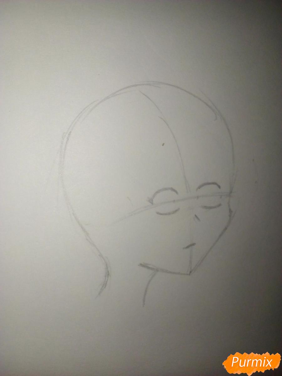 Мика Хатсуне в профиль - шаг 2
