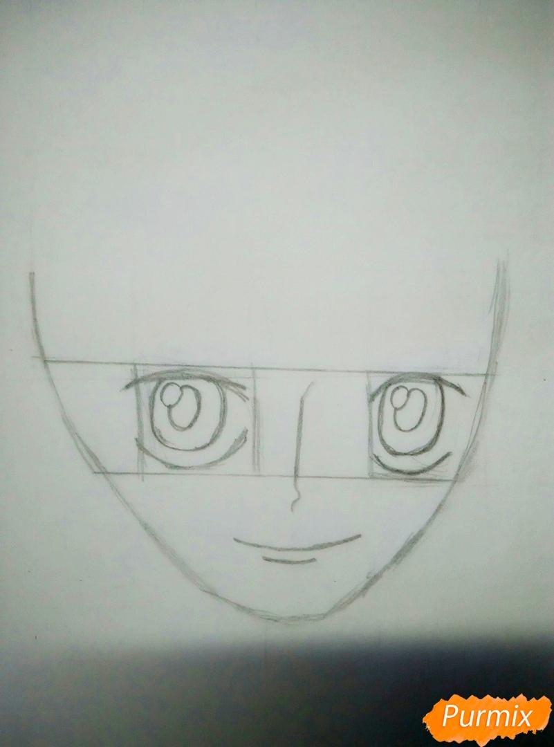 Портрет Нами из аниме Ван Пис - шаг 2
