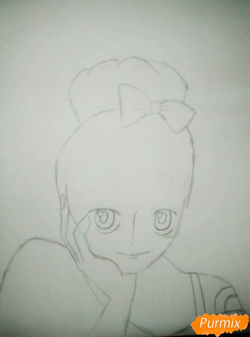 Портрет Нами из аниме Ван Пис - шаг 3