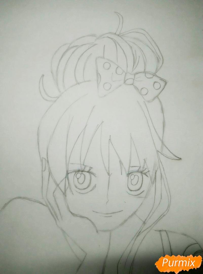 Портрет Нами из аниме Ван Пис - шаг 4