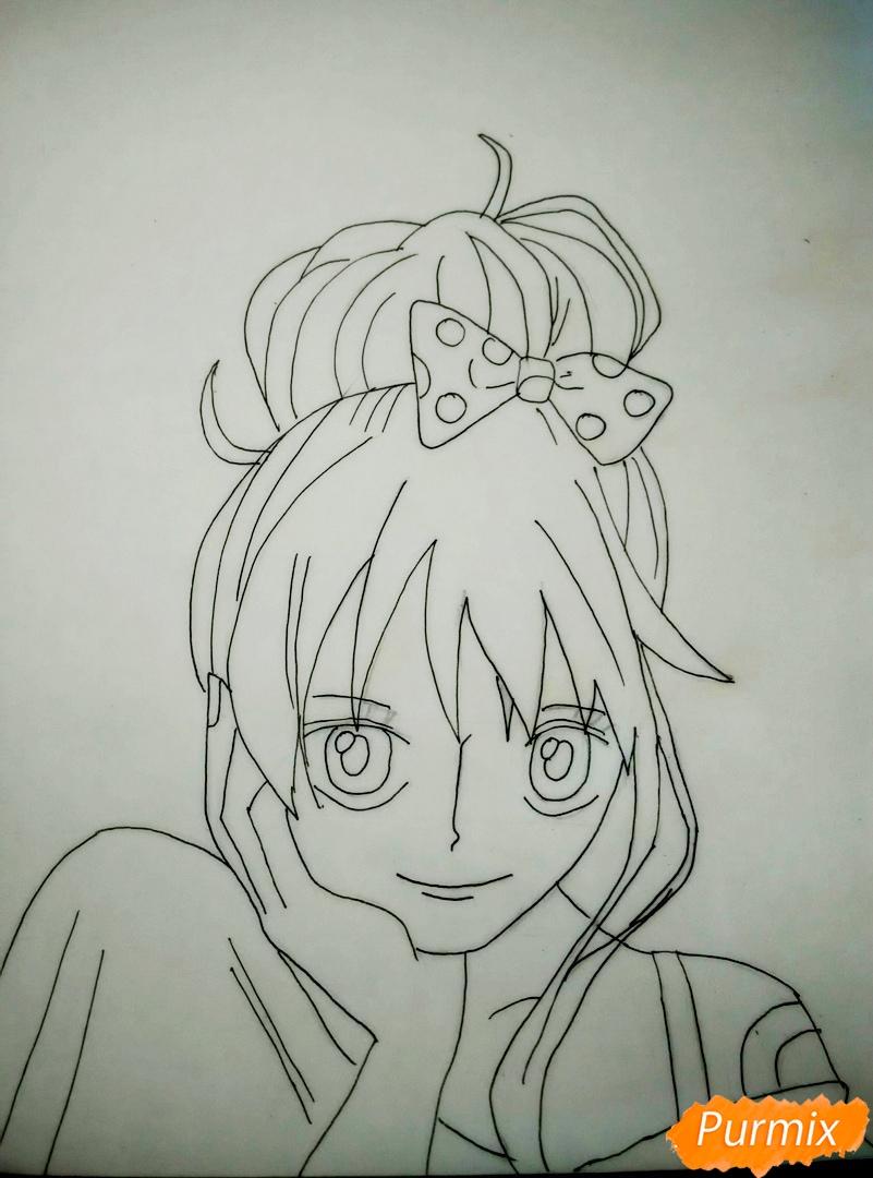 Портрет Нами из аниме Ван Пис - шаг 5