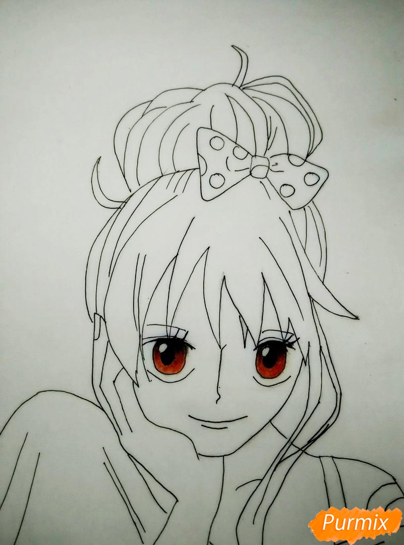 Портрет Нами из аниме Ван Пис - шаг 6