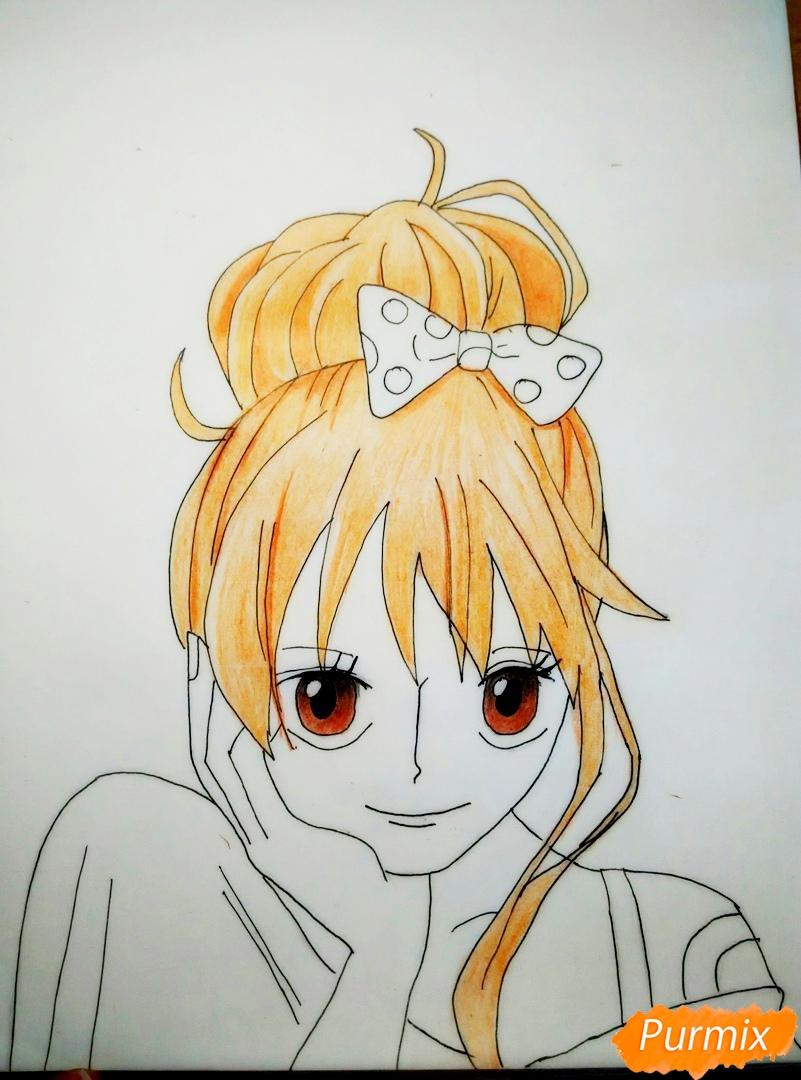 Портрет Нами из аниме Ван Пис - шаг 7