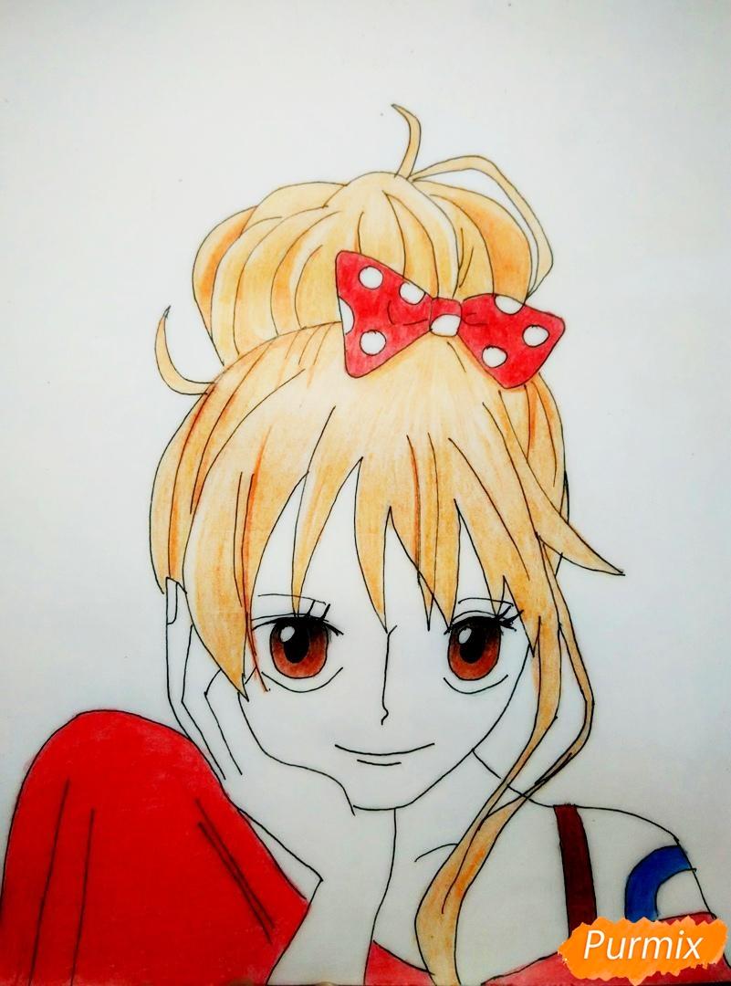 Портрет Нами из аниме Ван Пис - шаг 8