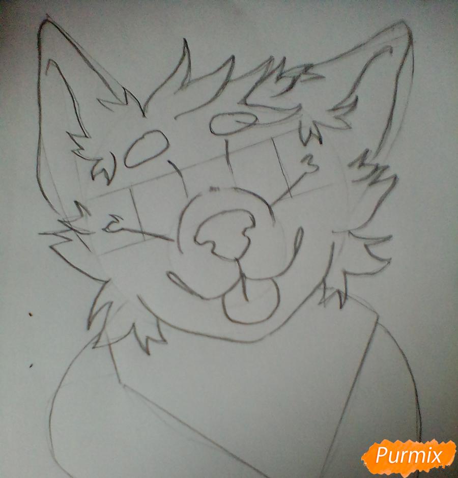 Портрет щенка в аниме стиле - шаг 2