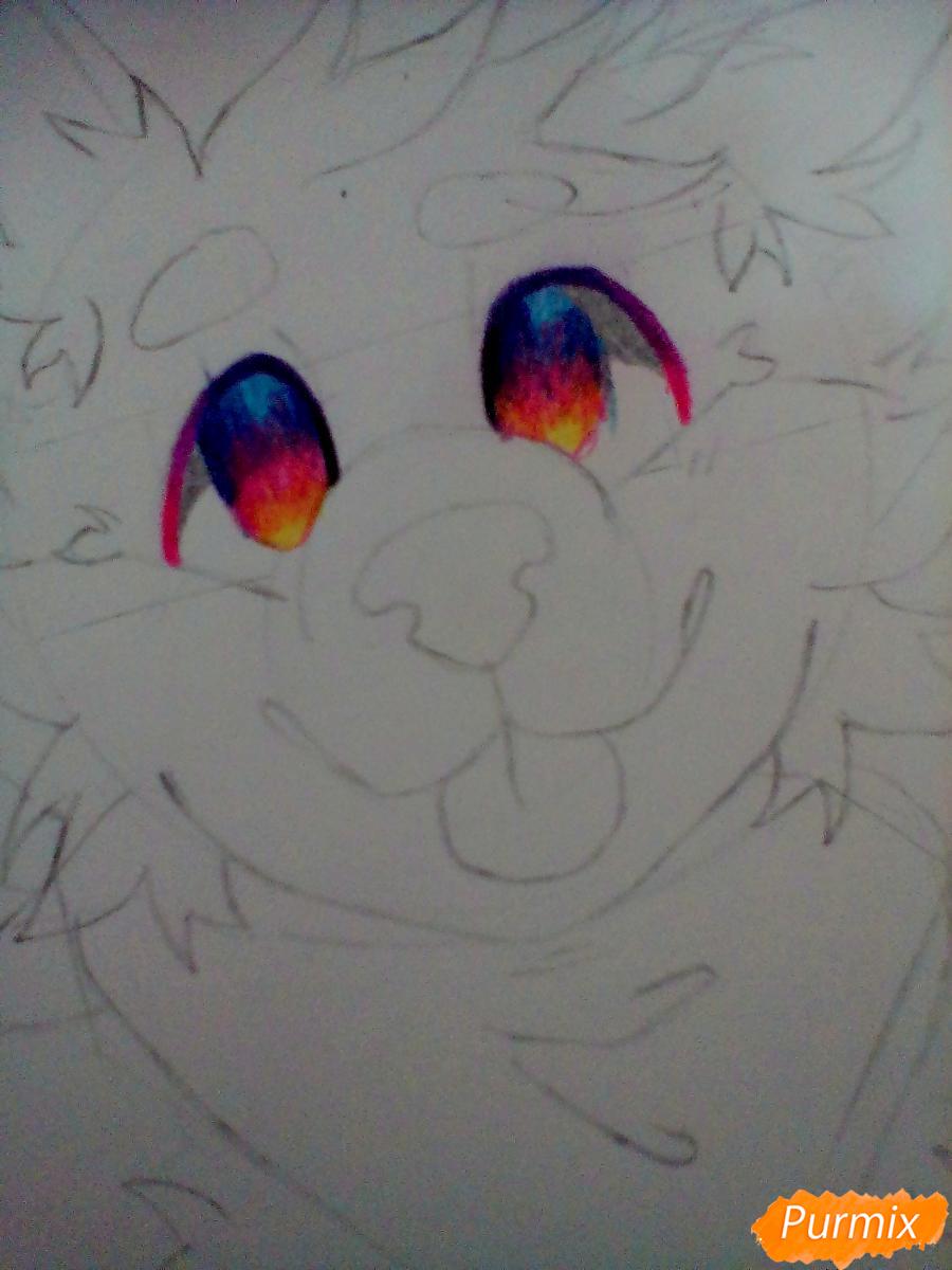 Портрет щенка в аниме стиле - шаг 4