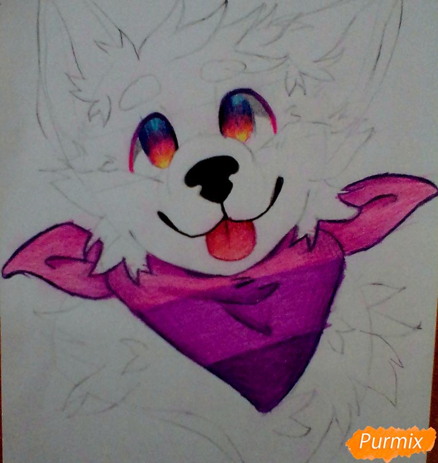 Портрет щенка в аниме стиле - шаг 5