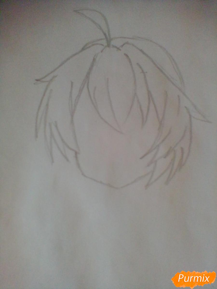 Портрет вокалоида Хатсуне Мику - шаг 1
