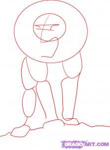 Рисуем аниме льва карандашами - шаг 1