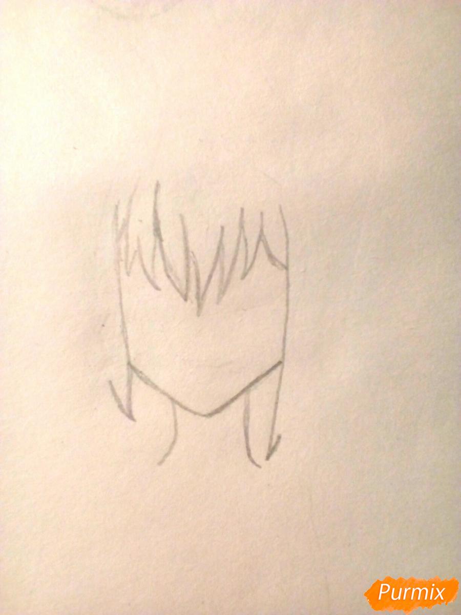 Рисуем девочку в школьной форме - шаг 1