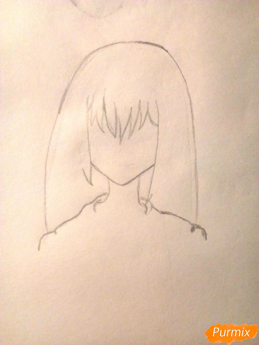 Рисуем девочку в школьной форме - шаг 2