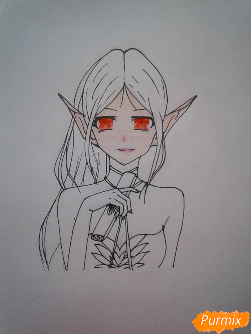 Рисуем Девушку-эльфа в аниме стиле - шаг 6