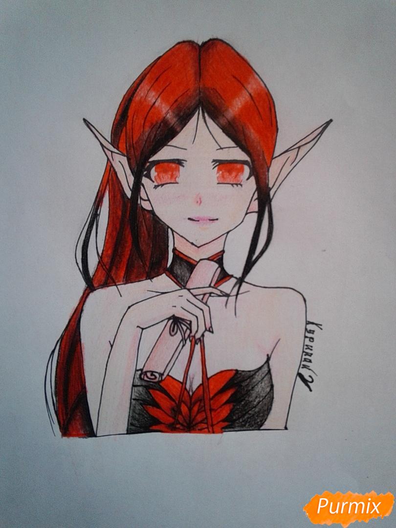 Рисуем Девушку-эльфа в аниме стиле - шаг 9