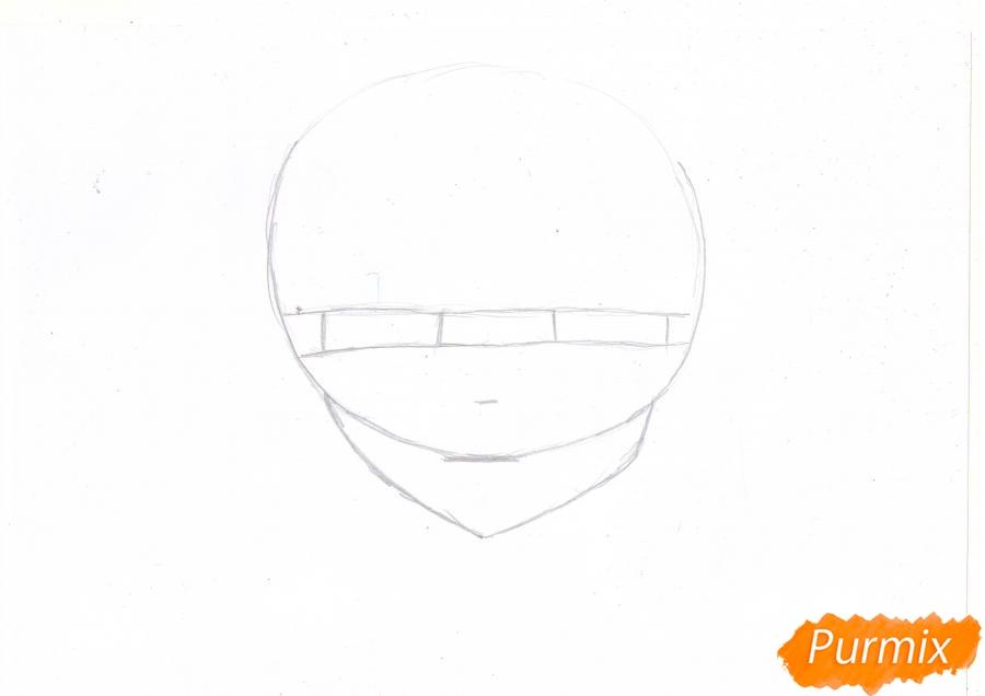 Учимся рисовать голову Нанами Момодзоно из аниме Очень приятно, Бог - шаг 1