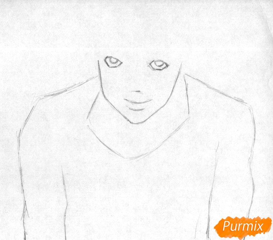 Рисуем Эл карандашами и ручкой - шаг 1