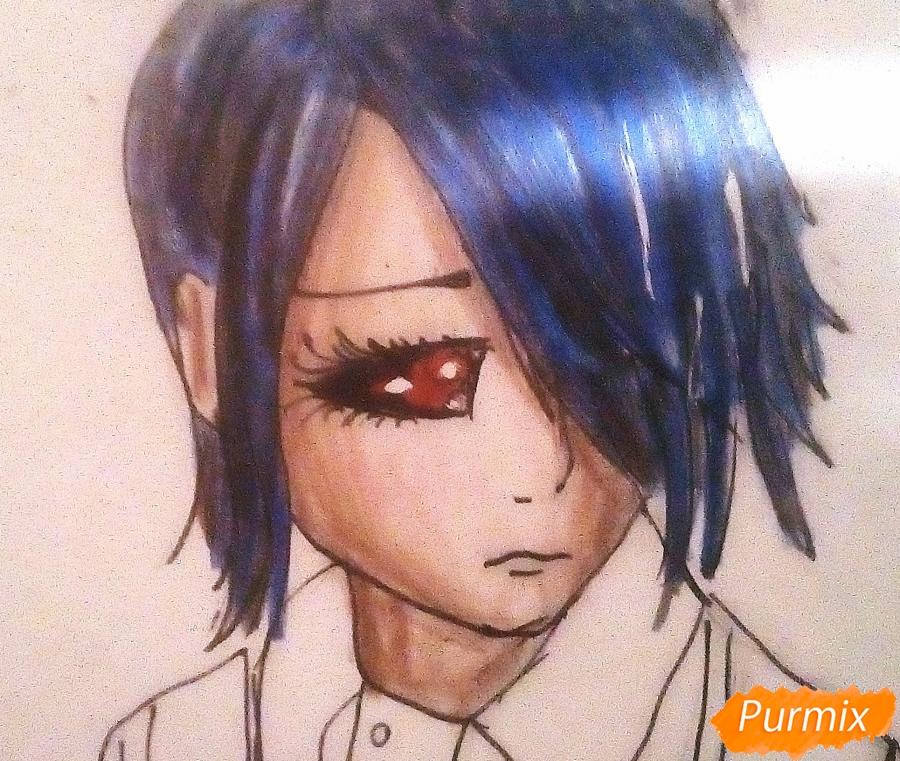 Рисуем Киришиму Тоуку из аниме Токийский Гуль - шаг 9