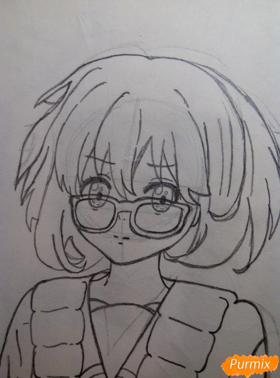 Рисуем Курияму Мирай из аниме за гранью - шаг 6