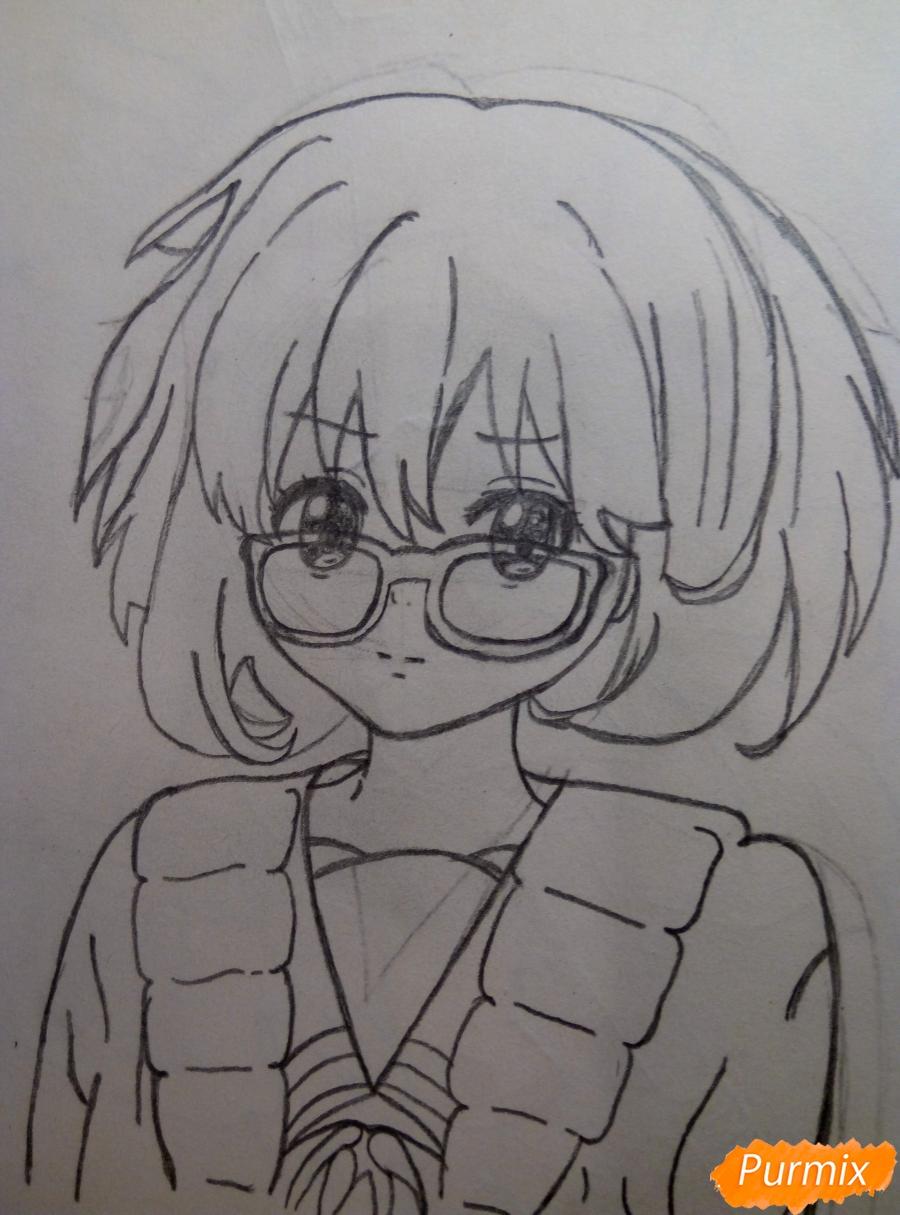 Рисуем Курияму Мирай из аниме за гранью - шаг 8