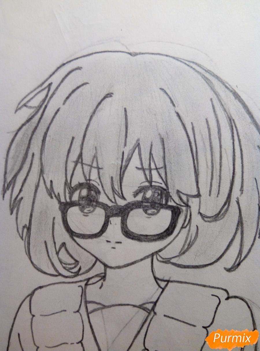 Рисуем Курияму Мирай из аниме за гранью - шаг 9