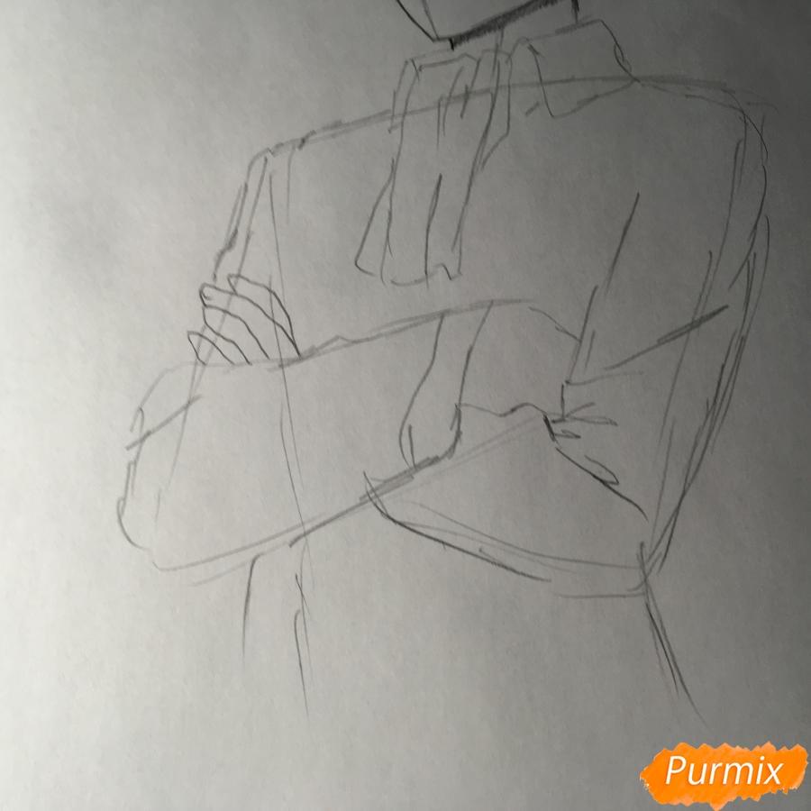 Рисуем Леви из аниме Атака Титанов - шаг 5