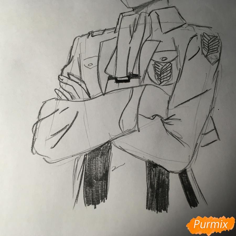 Рисуем Леви из аниме Атака Титанов - шаг 8