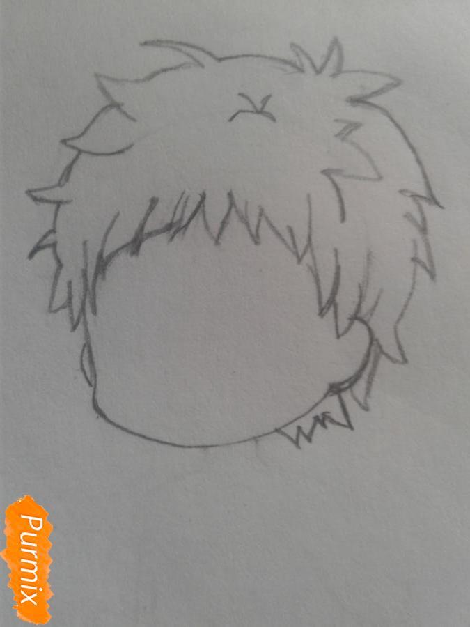 Рисуем маленького Гаара - шаг 2