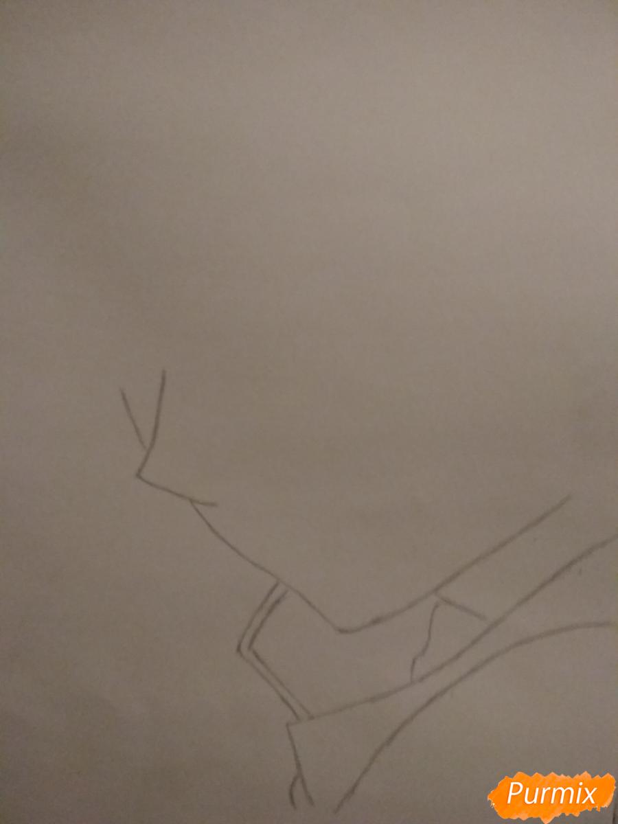 Рисуем Микаэлу Шиндо в профиль - шаг 1