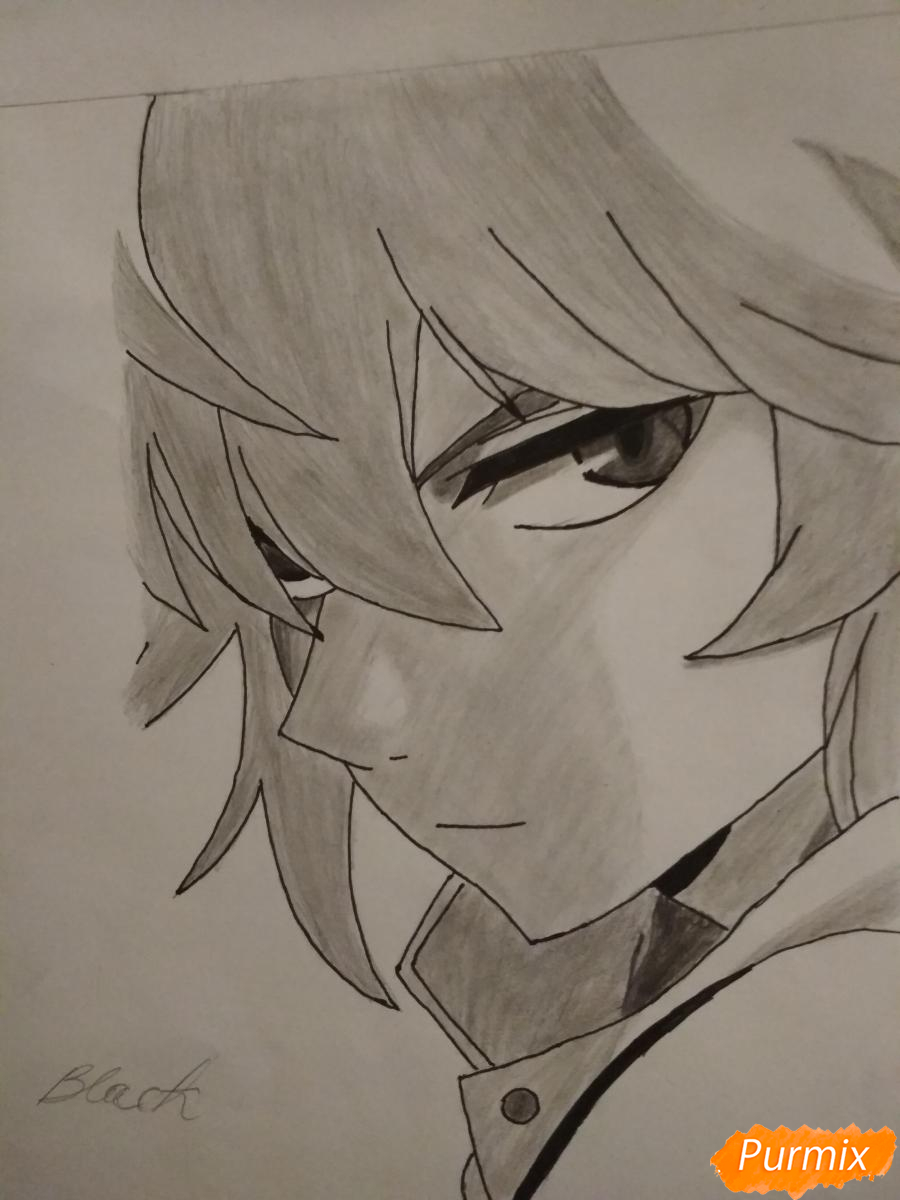 Рисуем Микаэлу Шиндо в профиль - шаг 10