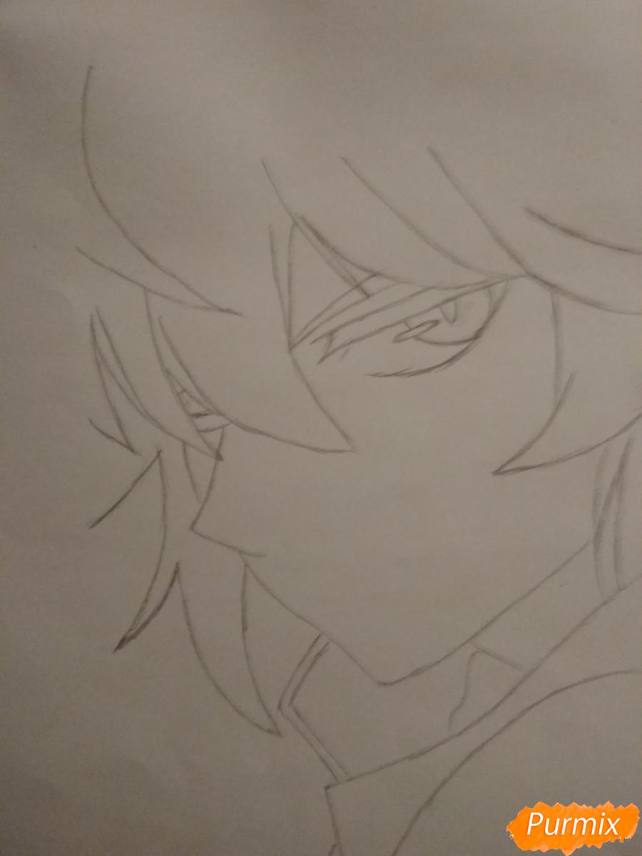Рисуем Микаэлу Шиндо в профиль - шаг 3