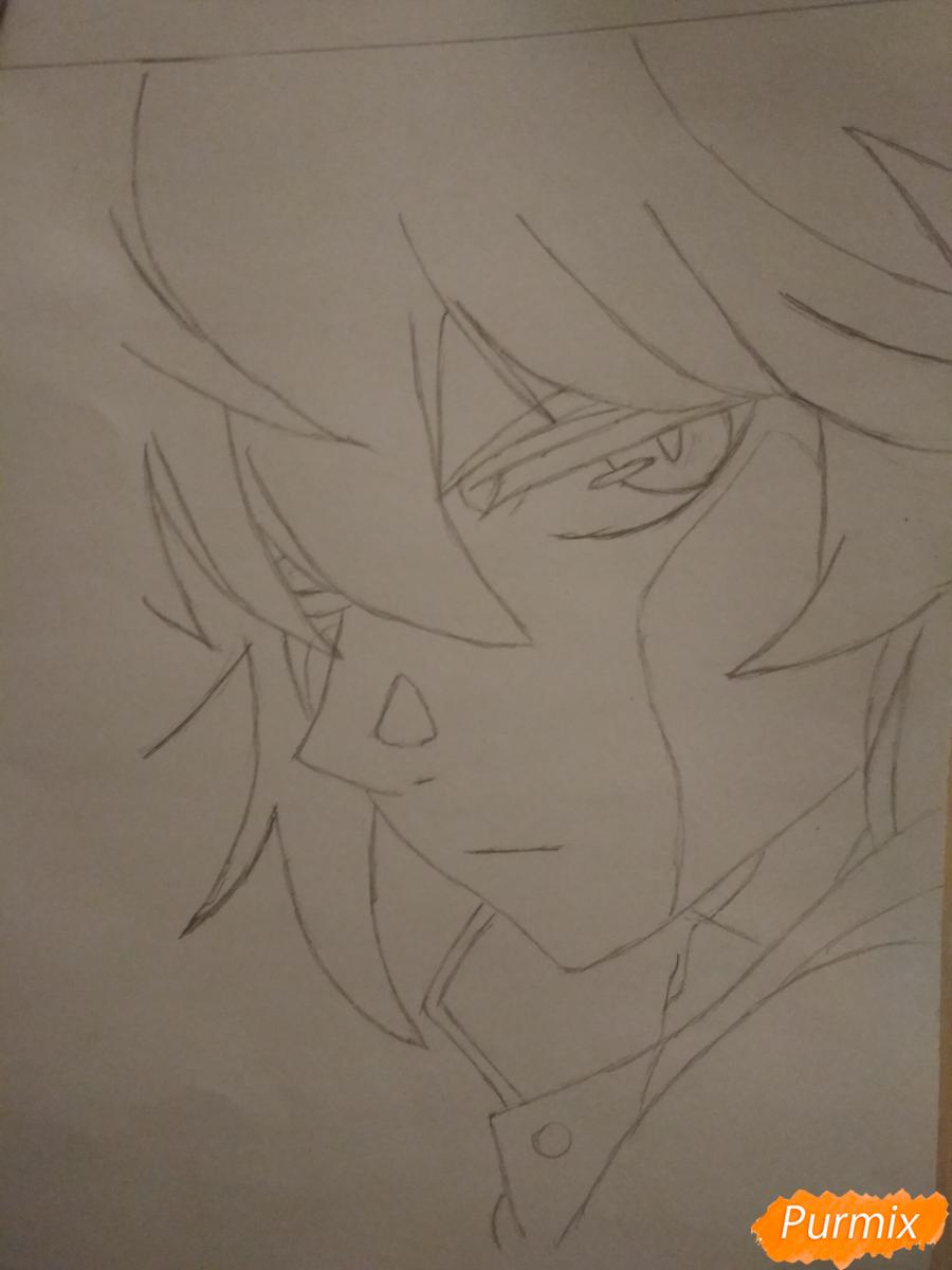 Рисуем Микаэлу Шиндо в профиль - шаг 4