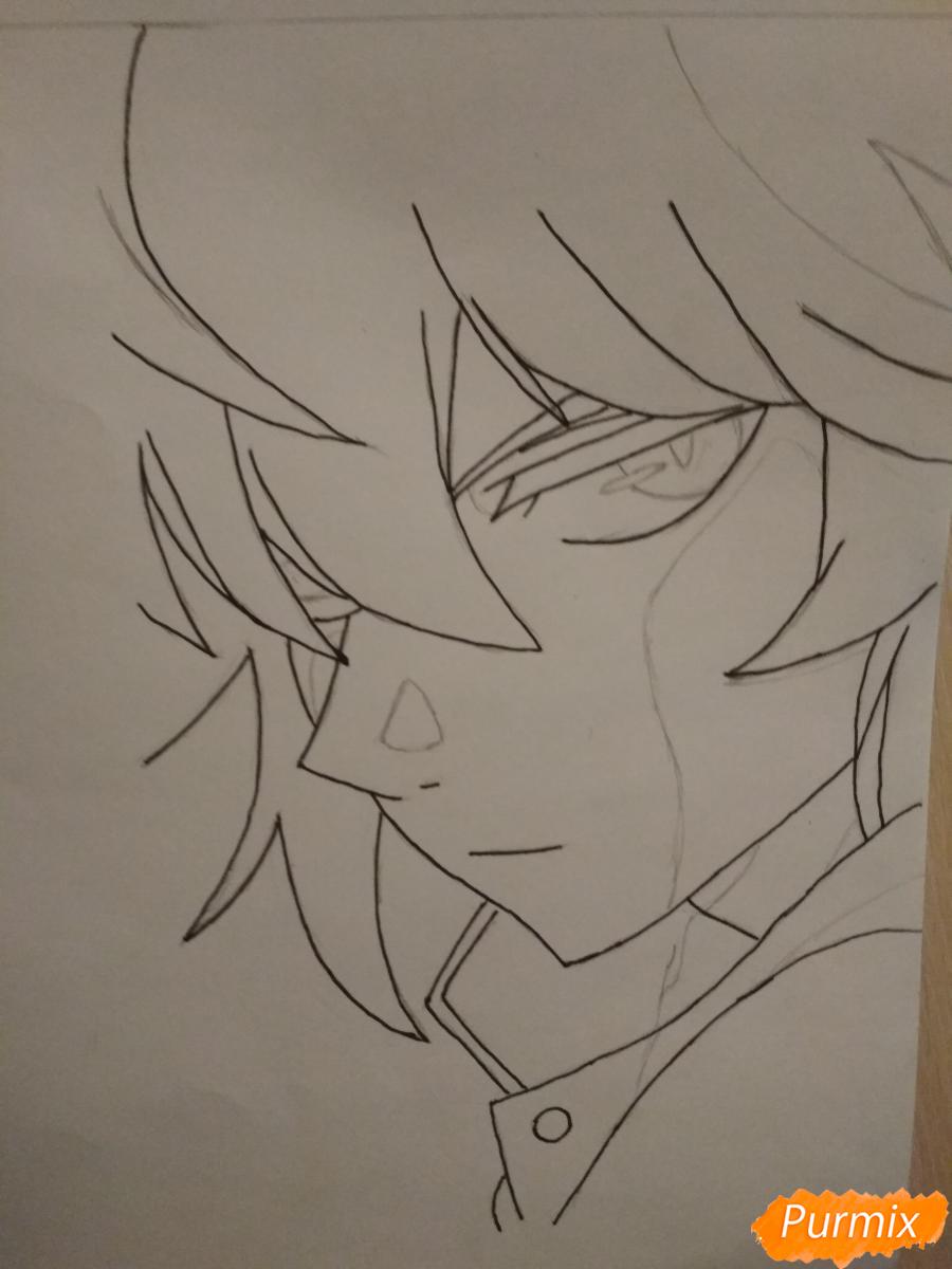 Рисуем Микаэлу Шиндо в профиль - шаг 5