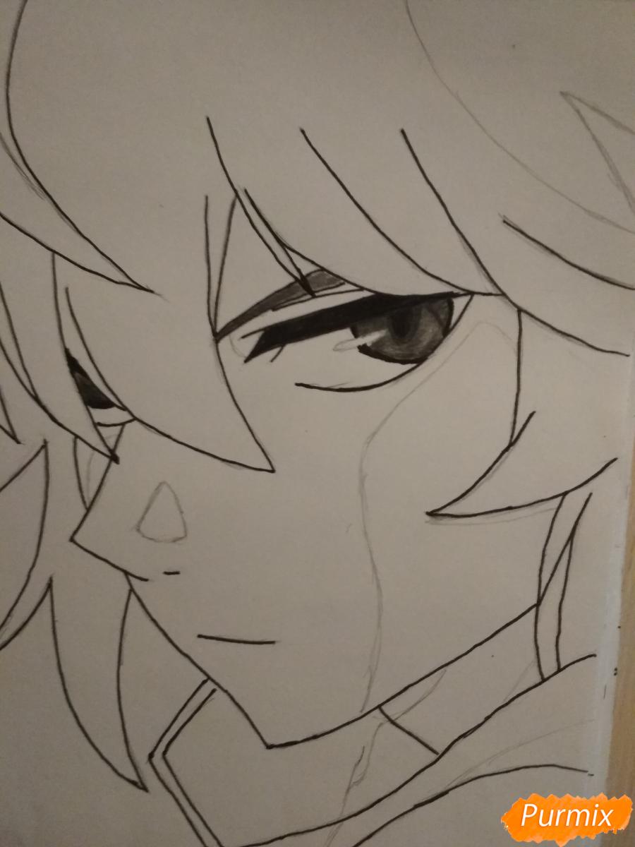 Рисуем Микаэлу Шиндо в профиль - шаг 6