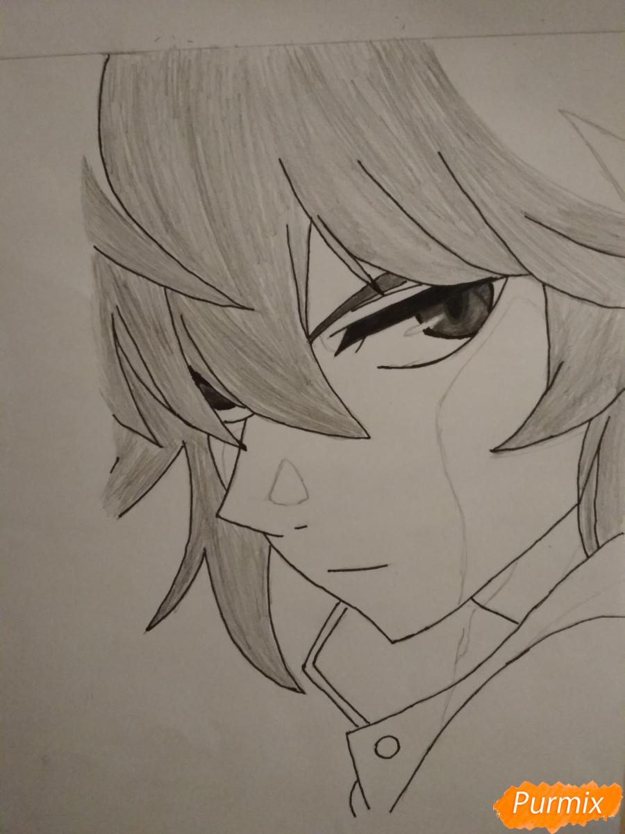 Рисуем Микаэлу Шиндо в профиль - шаг 7
