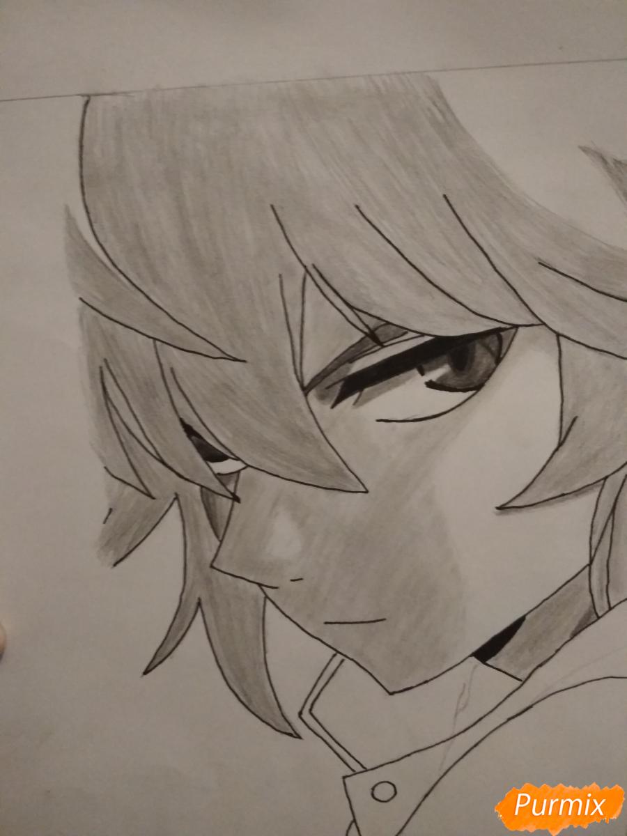 Рисуем Микаэлу Шиндо в профиль - шаг 8