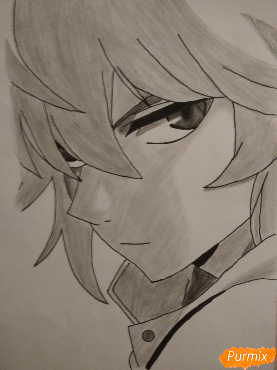 Рисуем Микаэлу Шиндо в профиль - шаг 9